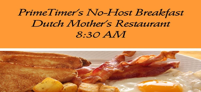 October 1 PrimeTimers' Breakfast